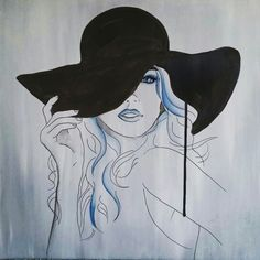 Acrylic, Indian inkt and pen 50x50 cm
