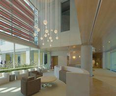 healthcare interior. Ceiling condition