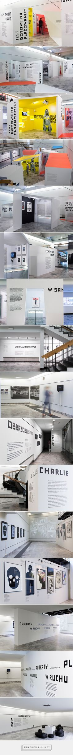 International Poster Biennale, Warsaw – the exhibition on Behance. - a grouped images picture - Pin Them All Exhibition Stand Design, Exhibition Display, Exhibition Space, Museum Exhibition, Wayfinding Signage, Signage Design, Ecole Design, Interactive Exhibition, Expositions