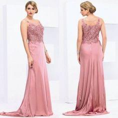 Sheath Sleeveless Handmade Evening Dress Floor-length