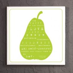 fruit of the spirit free printable - would love this in my kitchen