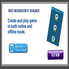 If you're on the hunt for games to toil your memory.#MOMEMORYGAME are here for you to keep your brain sharper.