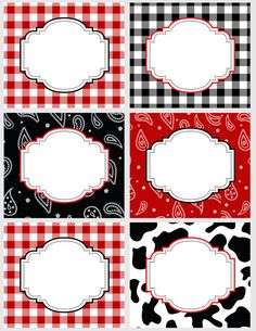 DIY Western Cowboy or Cowgirl Food Buffet by PinkMonkeyPartyPrint, $5.00
