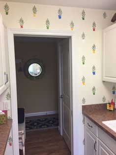 'I was writing down grocery items when inspiration struck!' (Laundry room idea)