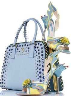 """Prada. *I could do without the heals but the purse is yelling """"Statement Piece!!!""""*"""