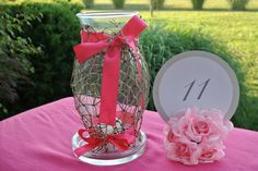 fishing themed centerpiece | Beach Wedding Centerpiece, Decorations, Fishing Net Candle Hurricane ...