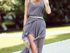 Love Chiffon Wrap Hi Lo Dress from Picsity.com