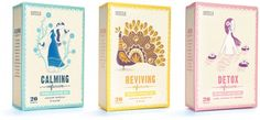 'Naturally Caffeine Free Tea' Three Artworks for Marks & Spencer by Stuart Kolakovic