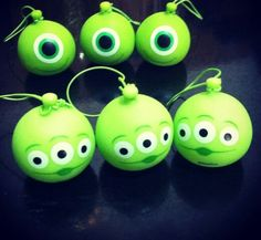 ||| Disney, Monsters Inc, Mike Wazowski, Pixar, Toy Story, aliens, hang, ornament, tree, winter, solstice, gift, decor