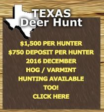 $1,500 - 4 Spots Open Dec. 8-9-10th-Desert Mule Deer hunts since 1988.  Hunt on an exclusive ranch near Sanderson, Texas, 110 miles due west from Del Rio, Texas on Hwy 90 in Terrell County. Desert Mule Deer season is only 2 weeks long.  Licenses are not included, but can be obtained for the hunter. A $750.00 deposit is required per hunter. Deposits are not refundable. Credit Cards accepted. Text or Call (920) 540-5038