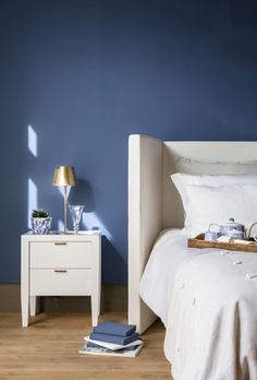 Blue is the perfect colour four kids' bedrooms, even if it is for girls! Click and check our amazing blue furniture and get drown in inspiration: CIRCU. Linear Fireplace, Blue Furniture, Dresser As Nightstand, Boy Room, Home Interior Design, Kids Bedroom, Blue Jeans, Color Themes, Sweet Home