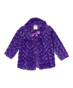 Purple Bow Jacket - Toddler & Girls