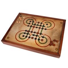 This ancient asian board game is handmade in wood and decoupage, and it is designed for you to hang it up in the wall as a picture if you want. It has a
