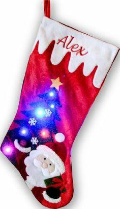 Light Up Christmas Stocking Santa