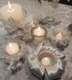 Como reciclar copos com velas e fitas decorativas para o Natal