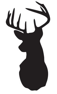 "Deer/Stag Head STENCIL Pick a size between 3""-20"" for painting Signs Wood Fabric Canvas Walls Furniture Scrapbook Airbrush"
