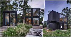 Dom z kontenerów morskich w miejscowości Amagansett został zaprojektowany przez biuro MB Architecture. Zadaniem było stworzenie letniskowego domu... Container Architecture, Long Island, Garage Doors, Outdoor Decor, Home Decor, Projects, Decoration Home, Room Decor, Carriage Doors