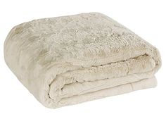 """Brielle Faux Fur Oversized Throw, 50"""" by 70"""", Snow Goose Ivory"""