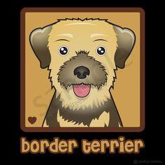Border Terrier Cartoon Shirt