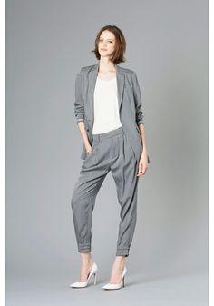 LE CIEL BLEU Relaxed jacket and tuck pants