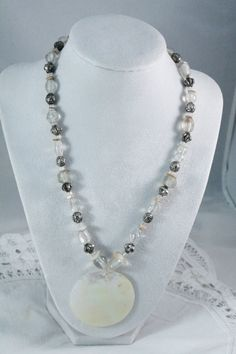 Nice Variety Beaded and Shell Fashion Necklace by amyrigs on Etsy