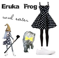 """""""Eruka Frog - Soul Eater"""" by lyriccrash666 ❤ liked on Polyvore featuring Rick Owens Lilies and Converse"""