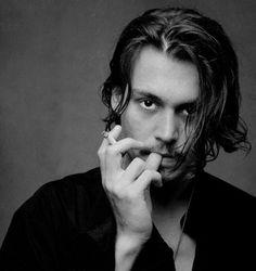 Johnny Depp x Young Johnny Depp, Johnny Depp Haircut, Here's Johnny, Junger Johnny Depp, Beautiful Men, Beautiful People, Jonny Deep, Dark Photography, Bae
