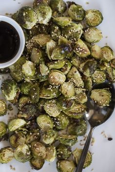 Mouth-Watering Crispy Brussels Sprouts (plus 7 ways to flavour them!) — Oh She Glows