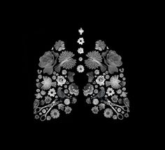 live breath art flowers birds scissors lungs