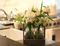 Strauss milk bottle vases