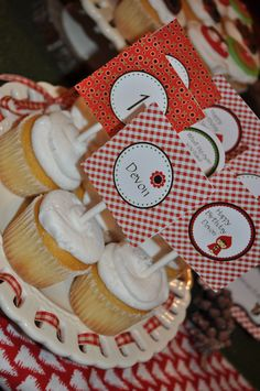 Little Red Riding Hood Birthday Party! Cupcake Toppers:)