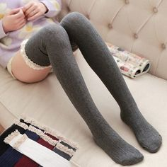 "Sweet students lace stockings  Coupon code ""cutekawaii"" for 10% off"