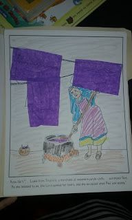 Paul and Lydia Bible Coloring Pages