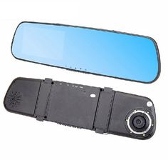 "Hot 4.3"" LCD Rearview Mirror Car Camera Auto Dvrs Recorder Video Registrator Full HD 1080P Night Vision Blue Color DVR"