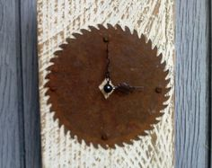 hand crafted wood clock | Rustic reclaimed barn wood wall clo ck ...