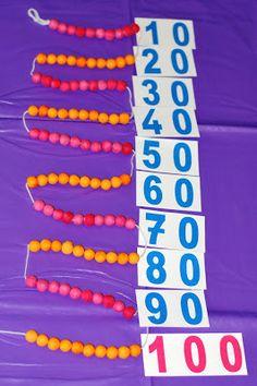 Montessori, chaine de 100, construction du nombre, le chiffre 100 en maternelle, Montessori, Hundred Days, Thing 1, 100 Days Of School, 100th Day, The 100, Construction, Teaching, Math Math