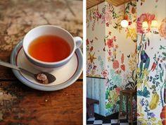 La decoración de una cafetería muy especial