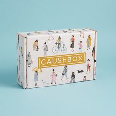 causebox welcome box artist designed package Custom Packaging Boxes, Cute Packaging, Product Packaging, Custom Printed Boxes, Custom Boxes, Mail Jeevas, Corrugated Box, Packing Boxes, Packaging Design Inspiration