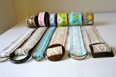 Lace Belt Tutorial.. Really cute and easy, would make good purse straps too