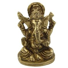 Amazon.com: Statue Ganesh Collectible and Figurines Metal Brass 1.75 X 1.1 X 1.5 Inches: Furniture & Decor