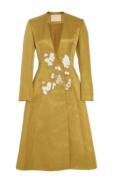 Cesca Double Face Cotton Silk Coat by BROCK COLLECTION for Preorder on Moda Operandi