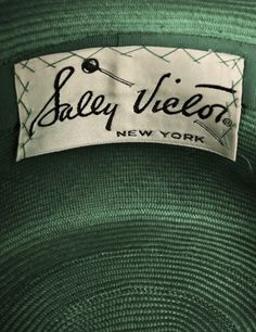 Vintage label - Sally Victor New York on green item
