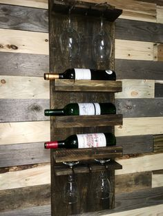 Wine Rack Shelf, Wine Racks, Bar Ideas, Diy Projects To Try, Wood Working, House Ideas, New Homes, Shelves, Furniture