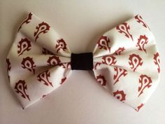 Horde World of Warcraft WoW Inspired Hair Bow or Bow Tie