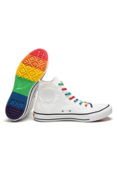 569d6a26cd9 Tênis Converse All Star Pride Chuck Taylor Branco