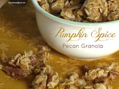 Pumpkin Spice Granola - This sounds good - will have to try this!