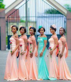 Stunning and Gorgeous Wedding Ideas Bridesmaid African Bridesmaid Dresses, Mermaid Bridesmaid Dresses, Prom Party Dresses, Wedding Bridesmaids, Wedding Dresses, Prom Dress, African Party Dresses, Yellow Bridesmaids, Wedding Outfits