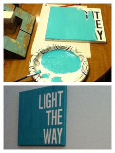 Inverted Canvas DIY with Vinyl Adhesive Lettering