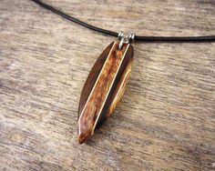 Hawaiian Surfboard Necklace Striped Surfboard Pendant by SepiaTree