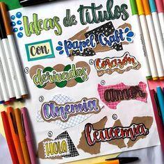 Bullet Journal Headers, Bullet Journal Banner, Bullet Journal School, Bullet Journal Ideas Pages, Bullet Journal Inspiration, Cute Notes, Pretty Notes, Bellet Journal, Journal Fonts